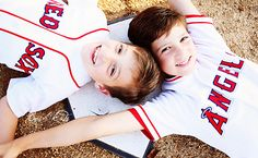 Baseball themed photo shoot. Super cute for their baseball room one day!