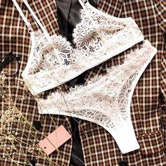 @monet_uw в Instagram: «🌿Комплект нижнего белья за 50 рублей? ⠀ 🌿Да! Комплект из кружева молочного цвета 🌿Размер: •Объём бёдер 84-95см •Объём под грудью…» Bodysuit, Beautiful Lingerie, Bra Lingerie, Crochet Bikini, Underwear, Sexy, Swimwear, How To Wear, Dresses