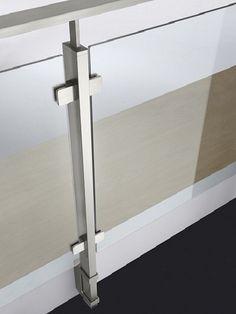 Square Line Stainless Steel Balustrade System Balcony Glass Design, Glass Balcony Railing, Balcony Railing Design, Glass Stairs, Deck Design, Steel Railing Design, Staircase Railing Design, Modern Stair Railing, Home Stairs Design