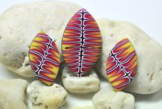 Polymer Clay Cabochons Inspired by the amazing Melanie West : by Dani Rapinett of The Whimsical Bead
