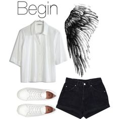 BTS Wings: Begin by kookiechu on Polyvore featuring moda, Madewell and H&M