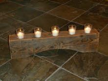 Rustic Timber Candle Holder