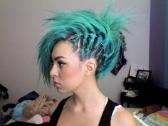girl with a dragon tattoo hair- without shaving the side of your head. So cool would be really cool to do cornrows!