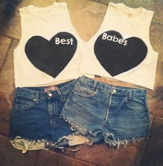 BFF Best Friends Heart crop top by NerdyYouth on Etsy, $40.00