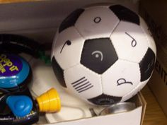 soccer ball with with note values and musical symbols. I can imagine many games we could play with this! Great for a body/movement break too!