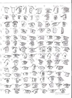 Drawing Tutorials.. so many eyes! =D this one is for you Katie.