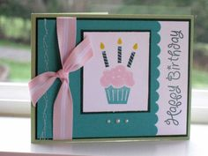 CC252 Birthday Cupcake by dpetersen - Cards and Paper Crafts at Splitcoaststampers