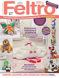 COL TRABALHOS EM FELTRO 037 Softies, Plushies, Felt Crafts, Diy And Crafts, Sewing Magazines, Dinosaur Stuffed Animal, Patches, Teddy Bear, Dolls