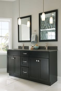 vanity door in white Bathroom, Contemporary & Dynamic, Photo 133 - KraftMaid Photo Gallery Kraftmaid, Bathroom Cabinets Designs, Vanity, Eclectic Bathroom, Kraftmaid Cabinets, Custom Bathroom Vanity, Cabinet Design, Bathroom Design, Bathroom Decor