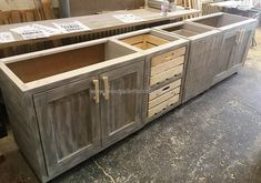 Vintage Style Repurposed Wood Pallets Kitchen - San Rafeal kitchen remodel - - New Ideas Pallet Kitchen Cabinets, Vintage Kitchen Cabinets, Kitchen Cabinet Styles, Diy Cabinets, Wooden Kitchen, Pallet Cabinet, Cabinet Plans, Reclaimed Wood Kitchen, Cabinet Ideas