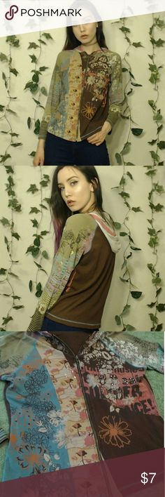 """✨Vanilla Sugar Light Vintage Jacket!✨ ✨Cute vintagy small jacket that is loose and lightweight! Short on the sleeves but it looks good if the sleeves are rolled up! Super cute and in good/fair condition! I'm 5'6"""" as a reference!✨ Vanilla Sugar Tops Sweatshirts & Hoodies"""