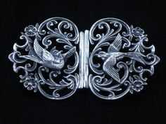 sterling silver antique nurses buckle - Google Search