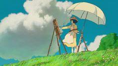 Monet, Woman with a Parasol, 1886 The Wind Rises ( 風立ちぬ ) 2013 Director: Hayao Miyazaki Cinematographer: Atsushi Okui Studio Ghibli Art, Studio Ghibli Movies, Hayao Miyazaki, Le Vent Se Leve, Grave Of The Fireflies, Wind Rises, Image Manga, Wallpaper Pc, Western Art