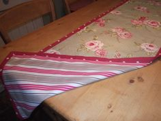 Betty Blues Double sided Table Runner. Made in 100% cotton, with mix n match fabric designs. For more information take a peek at the Betty Blues Vintage Facebook page.