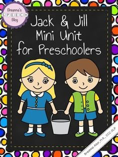 Do you love working on nursery rhymes with your preschool students? Reading a nursery rhyme and utilizing interactive therapy materials can make for a nice push in to the classroom speech and language session! The best part is that this mini unit is complete with a nursery rhyme story, comprehension questions, and more!Contents: One Jack and Jill nursery rhyme book with visuals.