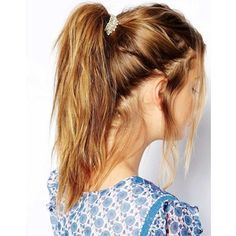 messy high pony tail, makes you look tough and confident in style!