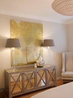 Furniture, Contemporary Bedroom With Wooden Buffet Design With Two Cool Lamps Ideas: Dining Room Sideboards To Make Your Dining Room More Appealing