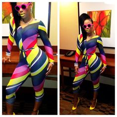 2016 Sale Enteritos Mujer Skinny Playsuit Rompers Womens Jumpsuit The New Europe And Nightclub Sexy Rainbow Printing Jumpsuits - OneClickMarket Bodycon Jumpsuit, Playsuit Romper, Womens Bodysuit, Wholesale Clothing, Clubwear, Sexy Dresses, Fall Outfits, Work Outfits, Sexy Women