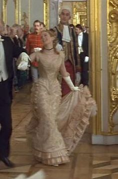 Kitty's cream ball gown from Anna Karenina 1997 - front view   picture by costumersguide - Photobucket