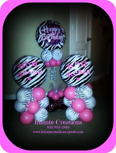 Pink & Zebra Print Party Decor