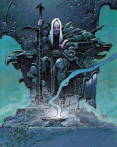 Philippe Caza - L'Oeil du Dragon [Elric] by myriac, via Flickr | Click through for a larger image