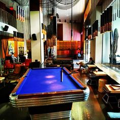 Besides our heated rooftop #pool, our #lobby pool table is also open year-round.