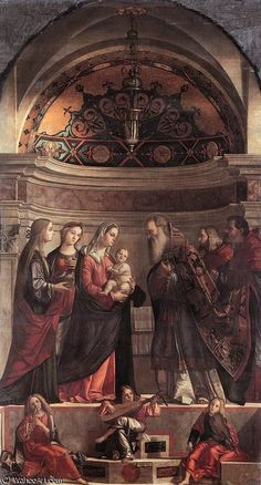Presentation In The Temple Vittore Carpaccio Date: Italy Style: High Renaissance Genre: religious painting Media: oil, wood Dimensions: 236 x 421 cm Italian Renaissance, Renaissance Art, Bellini, Charles Viii, Jesus In The Temple, Art Through The Ages, Classic Artwork, Italian Painters, Religious Art