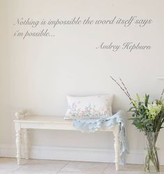 'nothing is impossible' audrey quote wall sticker by leonora hammond | notonthehighstreet.com
