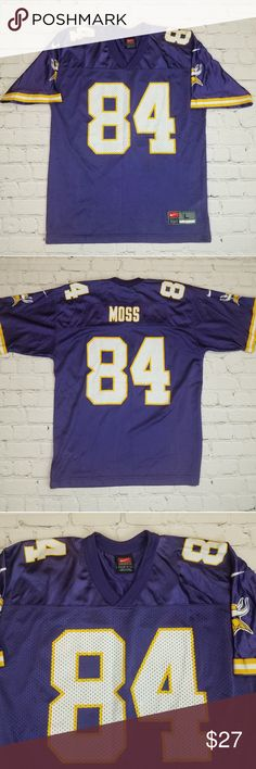 06f33945c37 NFL Minnesota Vikings Randy Moss Football Jersey A vintage original NFL  Minnesota Vikings Randy Moss football