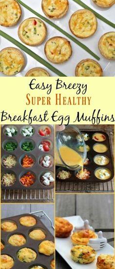 Easy Breezy Super Healthy Breakfast Egg Muffins - healthy