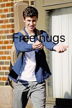 Free hugs from Shawn Mendes☺️ I'll take one any day!