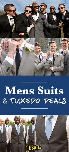 Shop men's suits,suit separates,and tuxedos at top wedding stores. Save with men's suits deals and Cash Back at Ebates.