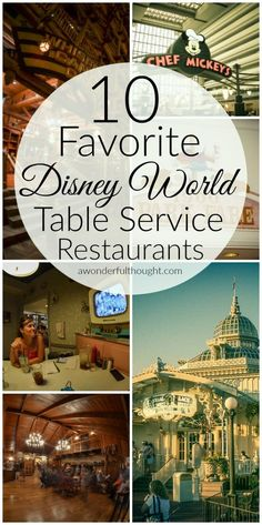 Our 10 Favorite Disney World Table Service Restaurants – A Wonderful Thought Here are our 10 favorite Disney World table service restaurants. These are great for kids and some are even character meals Restaurant Disney, Best Disney World Restaurants, Disney World Food, Disney Worlds, Disney World Vacation Planning, Walt Disney World Vacations, Disney Planning, Disney World Resorts, Disney Travel