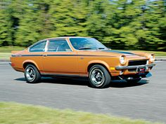 "1972 Chevy Vega- my first car, except mine was green, with ""FreeByrd"" in black on the hatchback..."