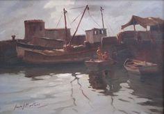 "Juan José Montans ""Puerto IV"" Óleo sobre tela 50 X 70 cms.  http://www.portondesanpedro.com/ver-producto.php?id=10427"