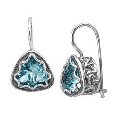 Silpada 'Hooked On Blue' 8 ct Blue Cubic Zirconia Drop Earrings in Sterling Silver | Hooked On Blue Earrings | Silpada