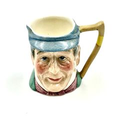 Toby Jug Mr Winkle Miniature Pickwick series Kelsboro ware Made England vintage Vintage Pottery, Royal Doulton, China Porcelain, My Ebay, Miniatures, England, Mugs, Ornaments, Shop