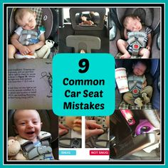 9 Mistakes We Made With Our Car Seat - @HealthyStartNCF we provide car seat training for reasons like this.