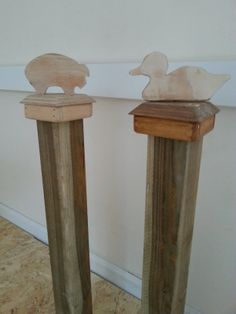Wooden Animal Fence Post Cap Finials Neat Things Outside