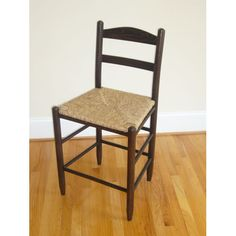 Walnut 24-Inch Ladder Back Bar Stool $179