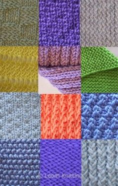 loom knitting stitches - Google Search