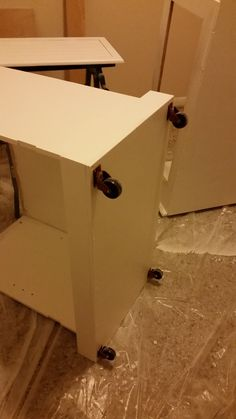 Luxury Installing Casters On Cabinet