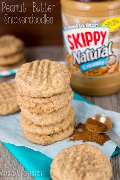 Peanut Butter Snickerdoodles | crazyforcrust.com