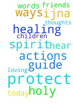 God, help & protect -  Holy Spirit, help my children amp; friends hear You today. Guide them to Jesus, His will, thoughts, words amp; actions. Father, protect them in all ways to healing amp; loving in Christ. IJNA  Posted at: https://prayerrequest.com/t/zRt #pray #prayer #request #prayerrequest
