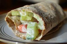 Easy Healthy Kitchen: Creamy Cucumber Salad Wrap