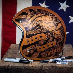 caferacersofinstagram: Rad helmet art by Derek Castle for the...  caferacersofinstagram:  Rad helmet art by Derek Castle for the @bellesonbikes fundraiser. Photo by