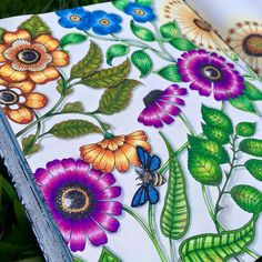 Inspirational coloring pages from Secret Garden, Enchanted Forest and other coloring books for grown-ups. Colouring Pages, Adult Coloring Pages, Coloring Books, Coloring Tips, Colorful Garden, Colorful Flowers, Big Flowers, Flower Garden Drawing, Flowers Garden