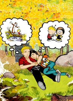 Calvin and Hobbes grown up by boomcow