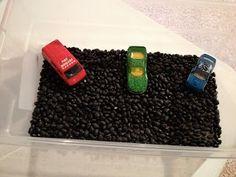 Cars sensory box