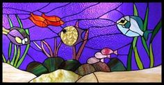 design art glass | exclusive stained glass mosaic three dimension and mirrors glass basin ...